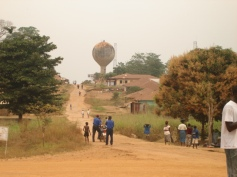 the town -- bordering to Liberia