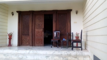 the entrance ... Newar designed door